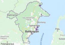 Letak geografis Provinsi Kalimantan Timur